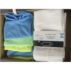 Flat full of New Towels / 5 microfiber and 6 bar mop towels