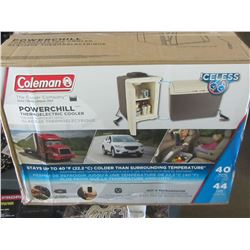 New Coleman 12 Volt Powerchill Cooler/ comes with 110/or 12volt