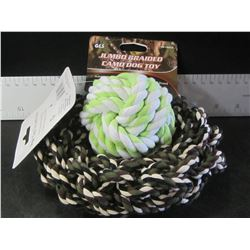 New Dog Braided Rope Ball and Hoop toys