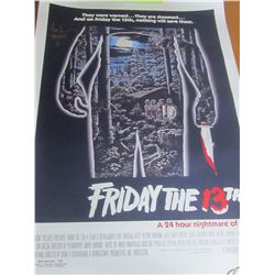 Friday the 13th Hand Singed Movie poster by Ari Lehman / 24x36