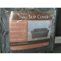 """New 1 piece Stretch Twill Slip Cover fits most sofas up to 90"""""""