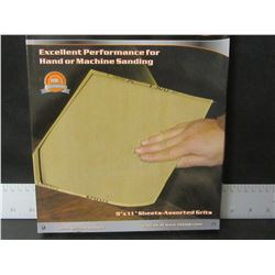 """1 new case 40 Sandpaper / 9 x 11"""" sheets / 60-100-150-240 grits/ 10 of each"""