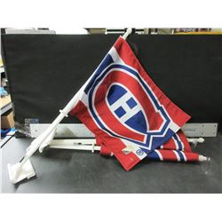3 New Montreal Canadians Car Flags with NHL Tags