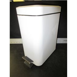 12 inch tall small bathroom wastebasket with foot pedal