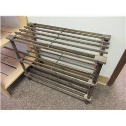 3 tier wood shoe rack  25 x 10.5 x 19 high