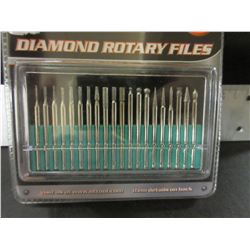 New 20 piece diamond Rotary Files / comes in case