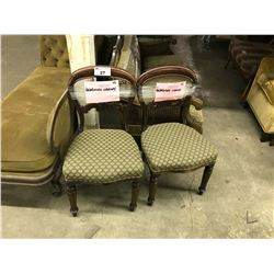 PAIR OF QUAGMIRE LIBRARY WOOD FRAMED CHAIRS