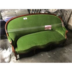 GREEN WOOD FRAMED COUCH