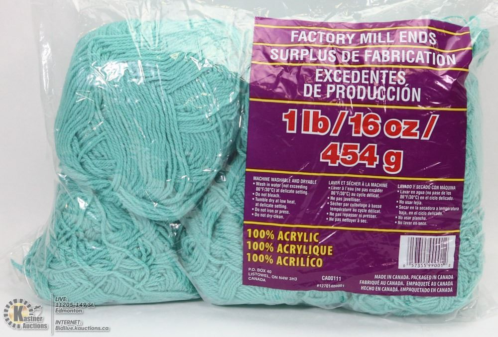 1LB BAG OF 100% ACRYLIC YARN GREEN