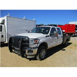 2012 FORD F50 FLATBED, VIN/SN:1FT7W2BT2CEC82309 - 4X4, CREW CAB, POWER STROKE DIESEL ENGINE, A/T, FL