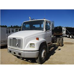 """2000 FREIGHTLINER CAB & CHASSIS VIN/SN:1FV6HJBAXYHH33742 - S/A, CAT 3126 ENGINE, 9 SPEED TRANS, 192"""""""