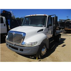 2007 INTERNATIONAL 4300 FLATBED DUMP TRUCK, VIN/SN:1HTMMAAM17H520834 - S/A, IHC DIESEL ENGINE, 6 SPE