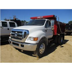 2007 FORD F750 DUMP, VIN/SN:3FRXF75P57V514099 - S/A, CAT C7 DIESEL ENGINE, 6 SPEED TRANS, GVW 33,000