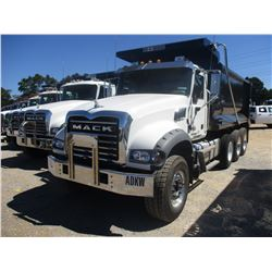 2018 MACK GU713 DUMP TRUCK, VIN/SN:1M2AX07C8JM037609 - TRI-AXLE, 455 HP MACK MP8 ENGINE, ALLISON A/T