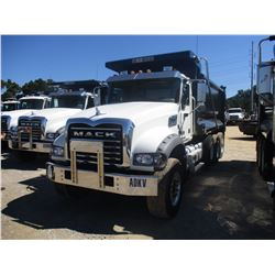 2018 MACK GU713 DUMP TRUCK, VIN/SN:1M2AX07C6JM037611 - TRI-AXLE, 455 HP MACK MP8 ENGINE, ALLISON A/T