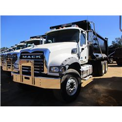 2017 MACK GU713 DUMP TRUCK, VIN/SN:1M2AX09C5HM033556 - T/A, 415 HP MACK MP8 ENGINE, ALLISON A/T, 44K