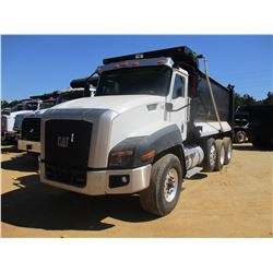 2012 CAT CT660S DUMP, VIN/SN:1HTJGTKT1CJ077034 - TRI-AXLE, 430HP CAT C13 DIESEL ENGINE, A/T, 46K REA