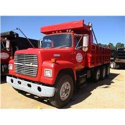 1994 FORD L8000 DUMP TRUCK, VIN/SN:1FDYU82E2RVA43233 - TRI-AXLE, FORD DIESEL ENGINE, 8LL TRANS, 16'
