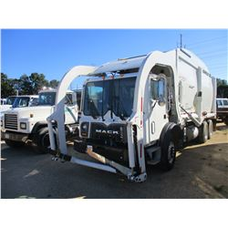 2018 MACK MRU613 GARBAGE TRUCK, VIN/SN:1M2AV04C1JM018152 - FRONT LOADER, T/A, 355HP MACK MP7 ENGINE,