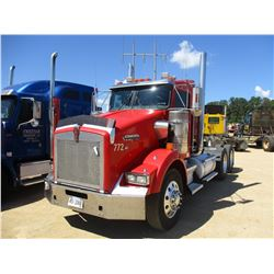 KENWORTH T800 TRUCK TRACTOR, VIN/SN:J117119 - C15 475 CAT DISEL ENGINE, 13 SPEED TRANS, 46K REARS, 1