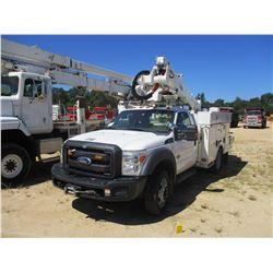 2012 FORD F550 BUCKET TRUCK, VIN/SN:1FDUF5HT0CEA42473 - 4X4, POWERSTROKE DIESEL ENGINE, A/T, ALTEC T