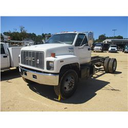 GMC TOP KICK CAB & CHASSIS, - - V8 GAS ENGINE, 5 SPEED TRANS, ODOMETER READING 282,955 MILES