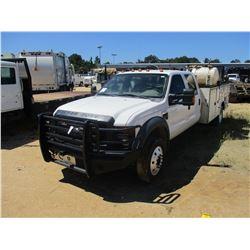 2008 FORD F550 SERVICE TRUCK, VIN/SN:1FDAW57R08EA19548 - CREW CAB, FORD POWERSTROKE DIESEL ENGINE, A