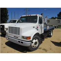 2000 INTERNATIONAL 4700 FLATBED, VIN/SN:1HTSCAAM7YH214653 - S/A, GVW 25,500 LB, IHC DIESEL ENGINE, A