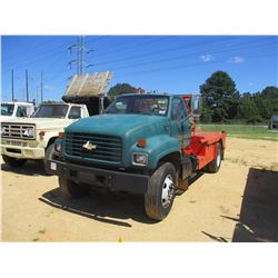 1999 CHEVROLET C7500 FLATBED TRUCK, VIN/SN:1GBL7H1B6XJ104721 - GM DIESEL ENGINE, 5/2 SPEED TRANS, 32