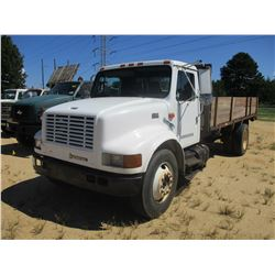 1998 INTERNATIONAL 4700 FLATBED DUMP, VIN/SN:1HTSCAAM2WH566925 - S/A, IHC DIESEL ENGINE, 6 SPEED TRA