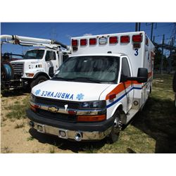 2014 CHEVROLET 4500 AMBULANCE, VIN/SN:1GB6G5CL0E1131511 - DURAMAX DIESEL ENGINE, A/T, AMBULANCE BODY