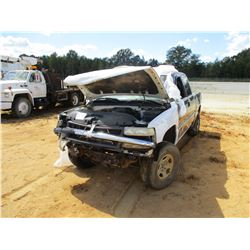 2001 CHEVROLET 1500 PICK UP, VIN/SN:1GCEK19T81Z162622 - 4X4, EXTENDED CAB, GAS ENGINE, A/T (DOES NOT