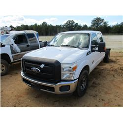 2011 FORD F350 CAB & CHASSIS, VIN/SN:1FT8W3AT1BEC51675 - CREW CAB, POWER STROKE DIESEL ENGINE, A/T,