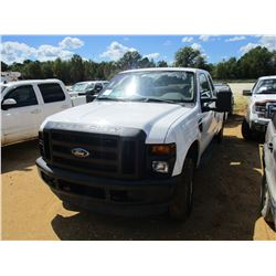 2008 FORD F250 SERVICE TRUCK, VIN/SN:1FD5X21508ED63211 - 4X4, EXTENDED CAB, GAS ENGINE, A/T, READING