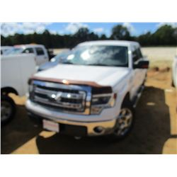2014 FORD XLT PICKUP, VIN/SN:1FTFW1EF1EFC48077 - 4X4, CREW CAB, GAS ENGINE, A/T, (DOES NOT OPERATE)