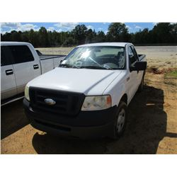 2007 FORD F150 VIN/SN:1FTRF12V97NA57850 - EXTENDED CAB, GAS ENGINE, A/T, ODOMETER READING 213,366 MI