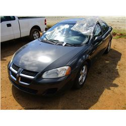 2005 DODGE STRATUS VIN/SN:1B3EL46X55N512857 - GAS ENGINE, A/T (DOES NOT OPERATE)