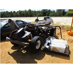 JEEP FRAME, MOTOR, TRANSMISSION & MISC PARTS (DOES NOT OPERATE)