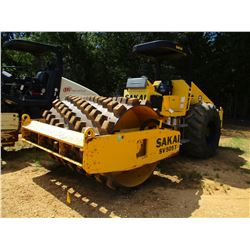 "2008 SAKAI SV505T ROLLER, VIN/SN:50645 - VIBRATORY, 84"" PADFOOT DRUM, CANOPY, METER READING 1,433 HO"