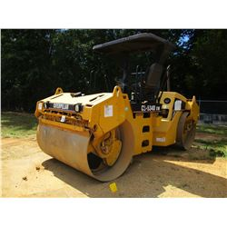 "2005 CAT CB-534DXW ROLLER, VIN/SN:EAA00296 - TANDEM, 79"" DRUMS, VIBRATORY, CANOPY, METER READING 214"