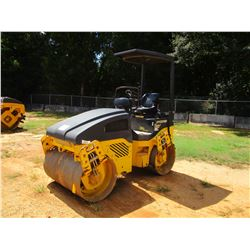 "2012 BOMAG BW120AD ROLLER, VIN/SN:861880182081 - TANDEM, 48"" DRUMS, VIBRATORY, CANOPY, METER READING"