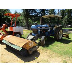 FORD 4630 FARM TRACTOR, VIN/SN:BB70K22 - ONE REMOTE, FRONT 7' CHALLENGER BROOM, BOX BLADES, CANOPY,