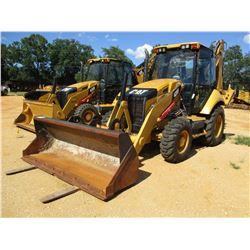 2012 CAT 420F LOADER BACKHOE, VIN/SN:SKR00628 - 4X4, COUPLER, BUCKET, FORKS, AUX HYD, CAB, AC, METER