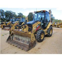 2008 CAT 420E LOADER BACKHOE, VIN/SN:HLS07224 - 4X4, E-STICK, MP BUCKET, FORKS, CAB, A/C, METER READ