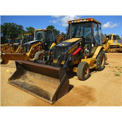 CAT 420D LOADER BACKHOE, VIN/SN:BLN02451 - E-STICK, COUPLER, BUCKET, CAB, A/C, METER READING 4,120 H