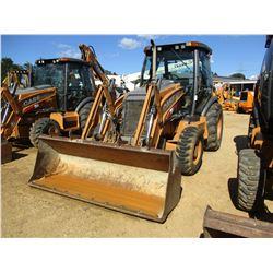 2012 CASE 580 SUPER N WT LOADER BACKHOE, VIN/SN:KCC567538 - 4X4, E-STICK, BUCKET, CAB, A/C, METER RE