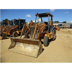 CASE 580 SUPER M LOADER BACKHOE, VIN/SN:426765 - BUCKET, CANOPY, METER READING 2,564 HOURS