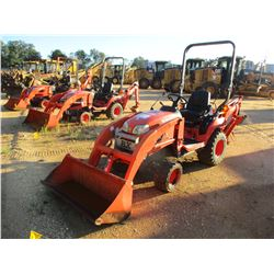 2012 KUBOTA BX25D LOADER BACKHOE, VIN/SN:64456 - 4X4, GP BUCKET, 12  HOE BUCKET, ROLL BAR, METER REA