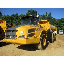 2012 VOLVO A25F ARTICULATED DUMP, VIN/SN:80076 - CAB, A/C, 23.5R25 TIRES, METER READING 6,612 HOURS,