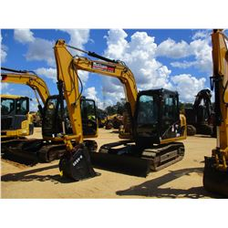 "2013 CAT 307D HYDRAULIC EXCAVATOR, VIN/SN:DSG03411 - 7' STICK, 24"" BUCKET, AUX HYD, BLADE, RUBBER IN"